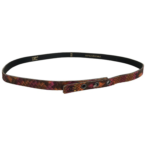 Chanel Multicolour Python Belt