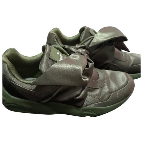 Fenty X Puma Khaki Cloth Trainers