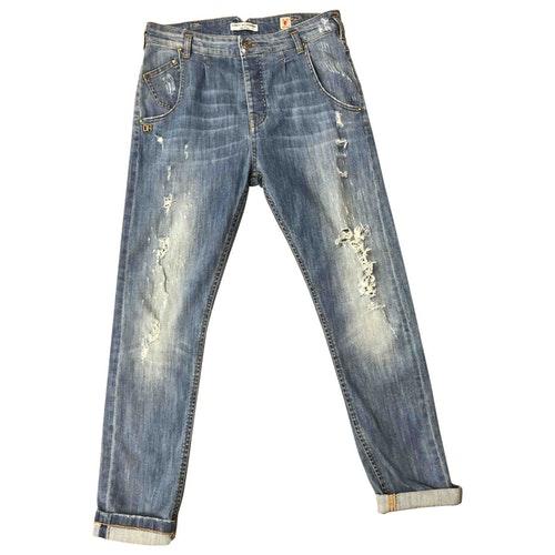 Daniele Alessandrini Blue Cotton - Elasthane Jeans