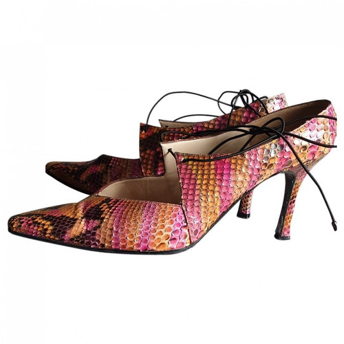 Chanel Multicolour Python Heels