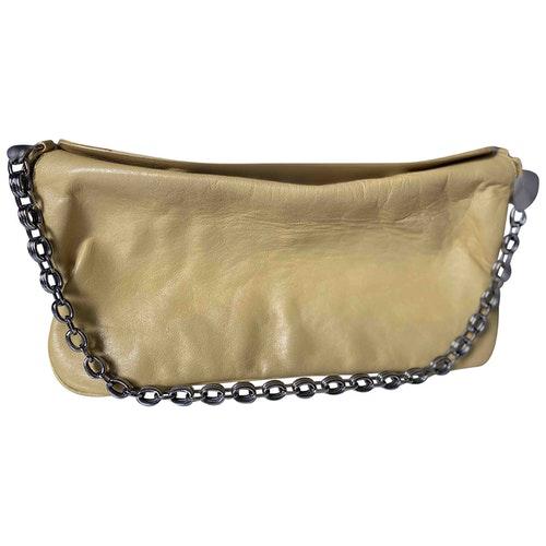 Nina Ricci Yellow Leather Handbag