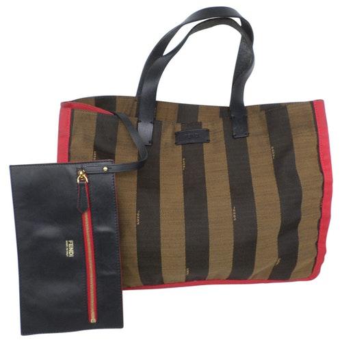 Fendi Roll Bag  Brown Cloth Handbag