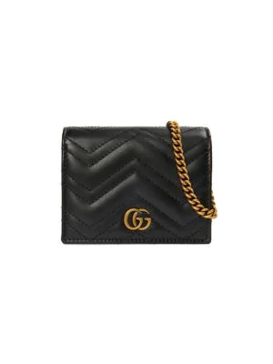 Gucci Gg Marmont Mini Bag Wallet In Nero