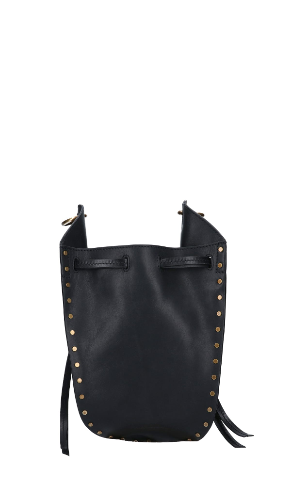 Isabel Marant Studs Details Shoulder Bag Mancano Misure In Black