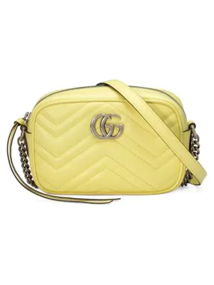 Gucci Gg Marmont MatelassÉ Mini Bag In Yellow