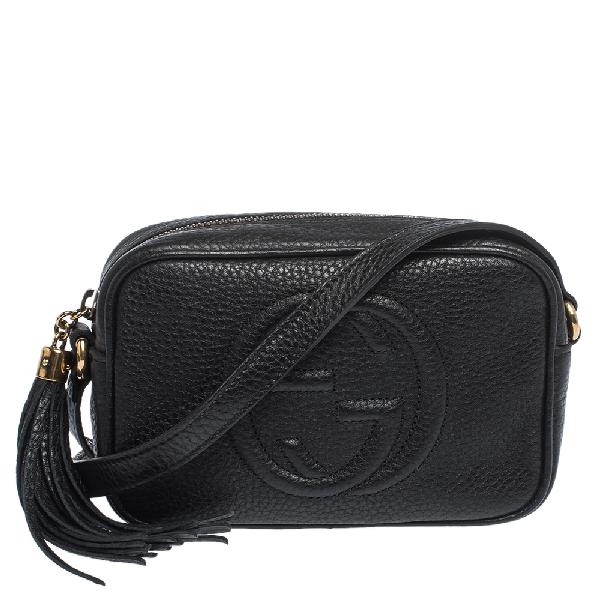 Gucci Black Leather Small Soho Disco Shoulder Bag