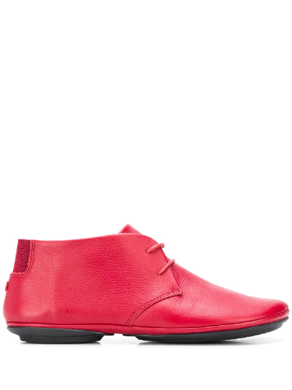 Camper Nina Lace-up Square-toe Shoes In Red
