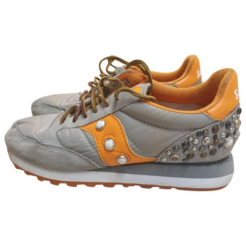 Saucony Grey Cloth Trainers
