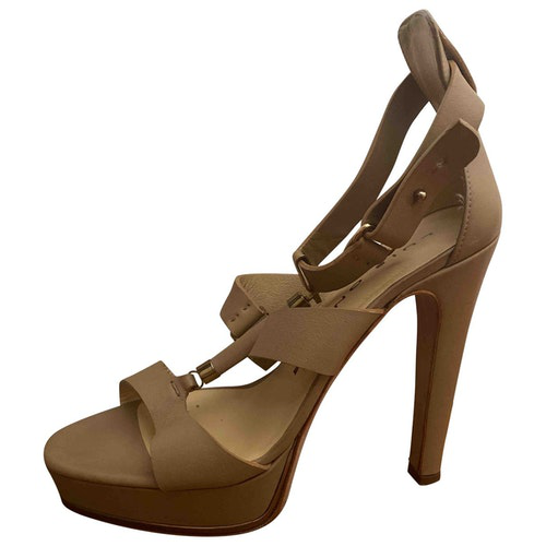 Luis Onofre Beige Leather Sandals