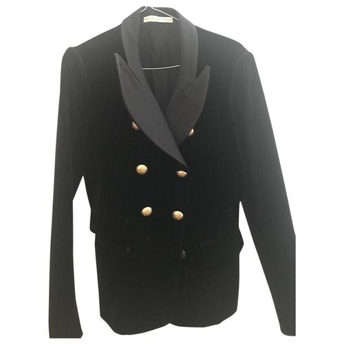 Balenciaga Black Velvet Jacket