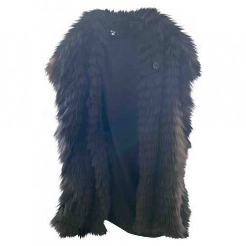 Harrods Black Fox Coat