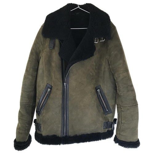 Each X Other Each X  Green Shearling Jacket