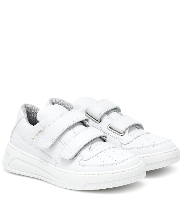 Acne Studios Steffey Touch-strap Sneakers In White