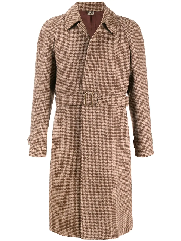 A.n.g.e.l.o. Vintage Cult 1990s Pied De Poule Coat In Brown