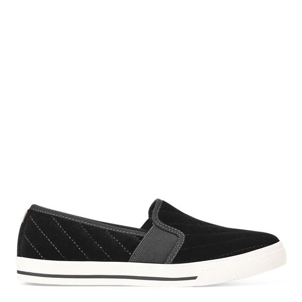 Lauren Ralph Lauren Jinny Velvet Slip-on Sneaker In Black