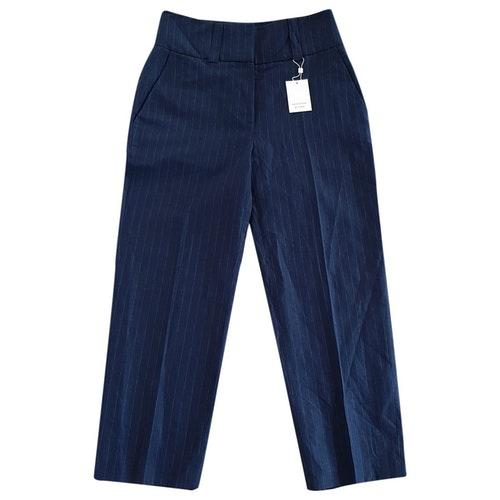 Les Coyotes De Paris Blue Linen Trousers
