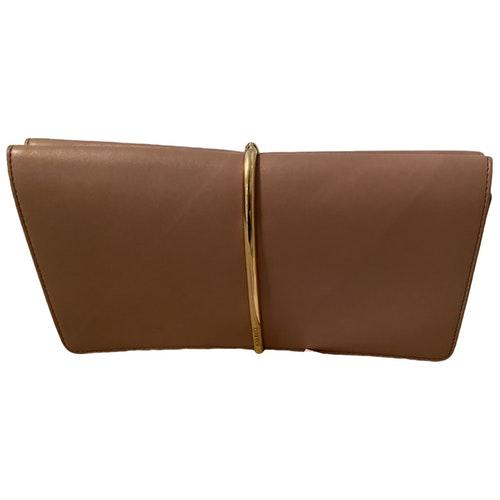 Nina Ricci Beige Leather Clutch Bag