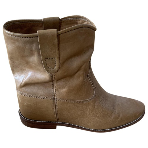 Isabel Marant Crisi  Camel Leather Ankle Boots