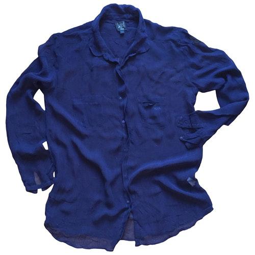 Swildens Navy Silk  Top