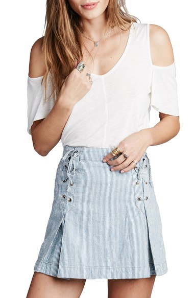 9672198c2e2 Free People 'Bittersweet' Cold Shoulder Top In Ivory   ModeSens
