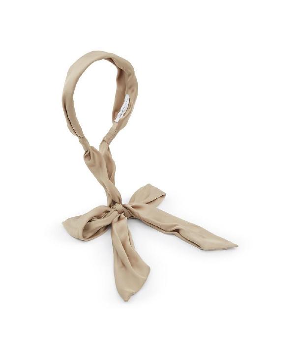 The Uniform Silk Scarf Headband In Olive