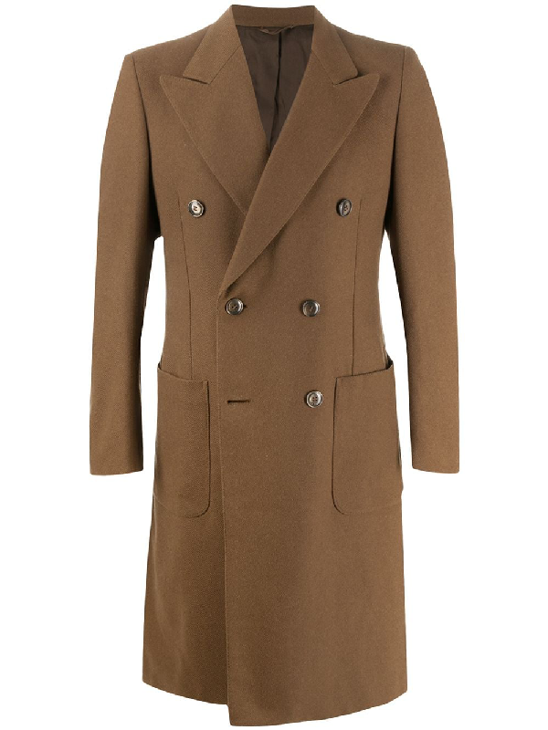 A.n.g.e.l.o. Vintage Cult 1990s Double-breasted Knee-length Coat In Brown
