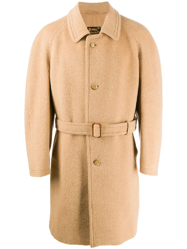 A.n.g.e.l.o. Vintage Cult 1980s Single-breasted Coat In Beige