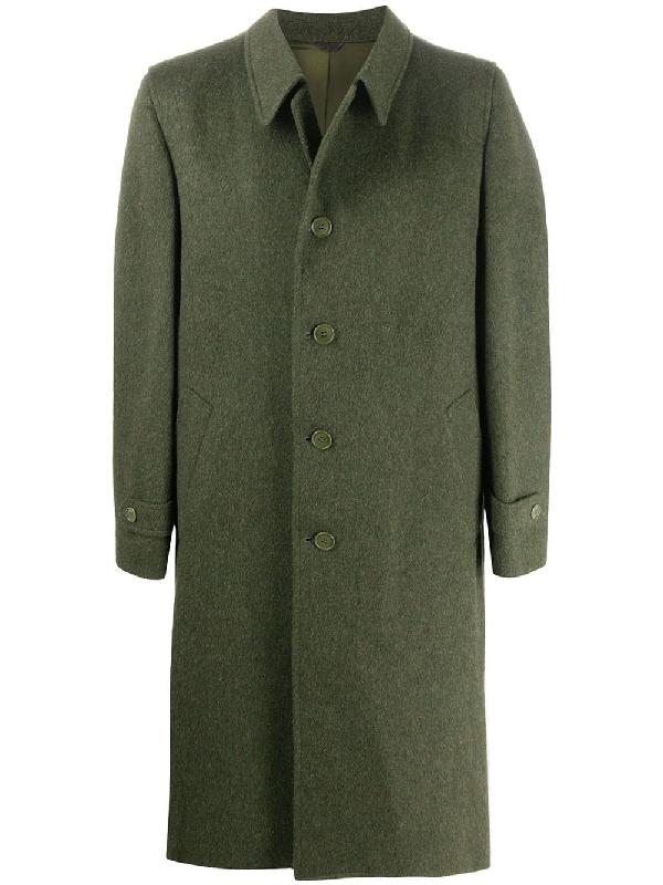 A.n.g.e.l.o. Vintage Cult 1980s Structured Shoulder Coat In Green