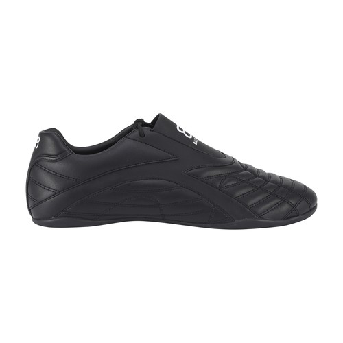 Balenciaga Zen Panelled Faux-leather Slip-on Trainers In Black