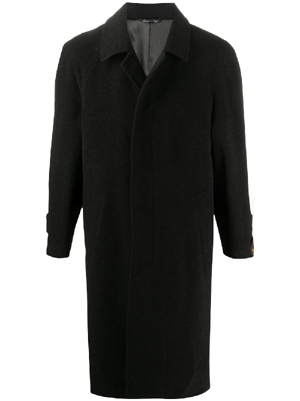A.n.g.e.l.o. Vintage Cult 1990s Singled Breasted Coat In Black