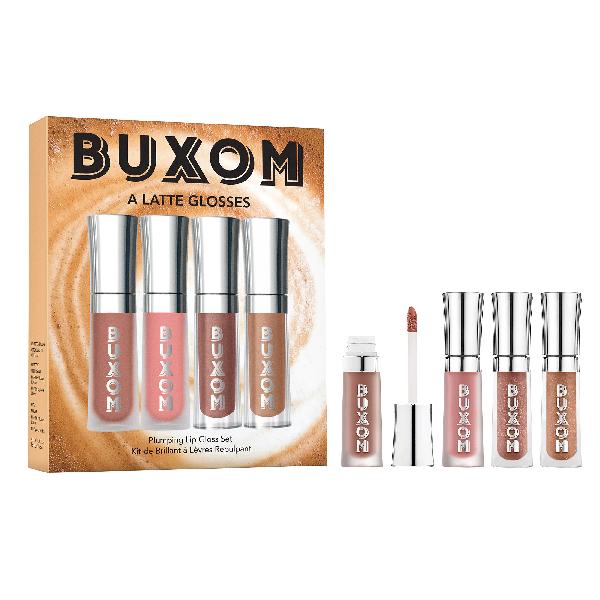 Buxom A Latte Glosses Mini Plumping Lip Gloss Set 4 X 0.07 oz/ 2 ml