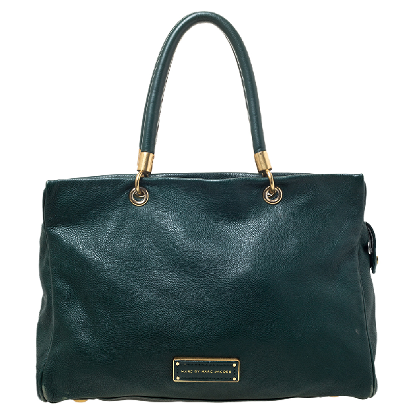 Marc By Marc Jacobs Green Leather Tote