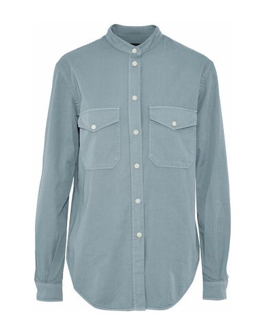 Belstaff Solid Color Shirts & Blouses In Slate Blue