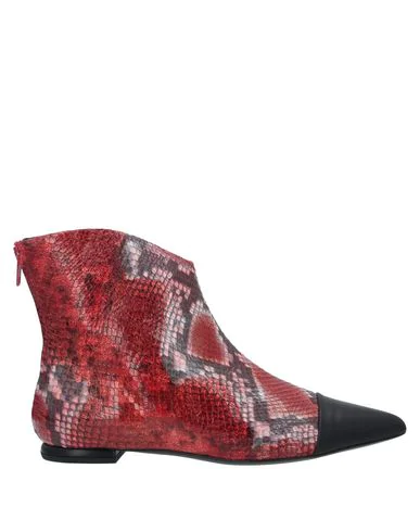 Gianni Marra Ankle Boot In Brick Red