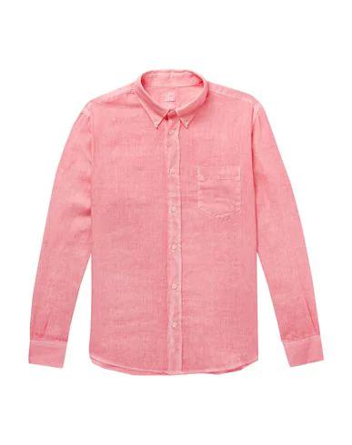 120% Linen Shirt In Pink