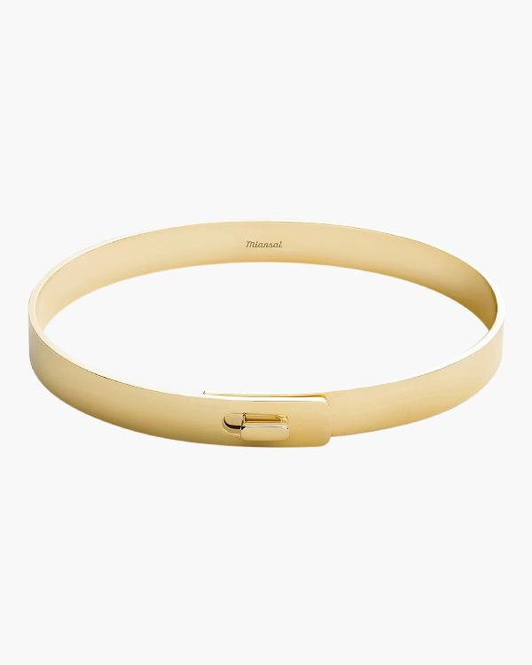 Miansai Standard Cuff In Gold