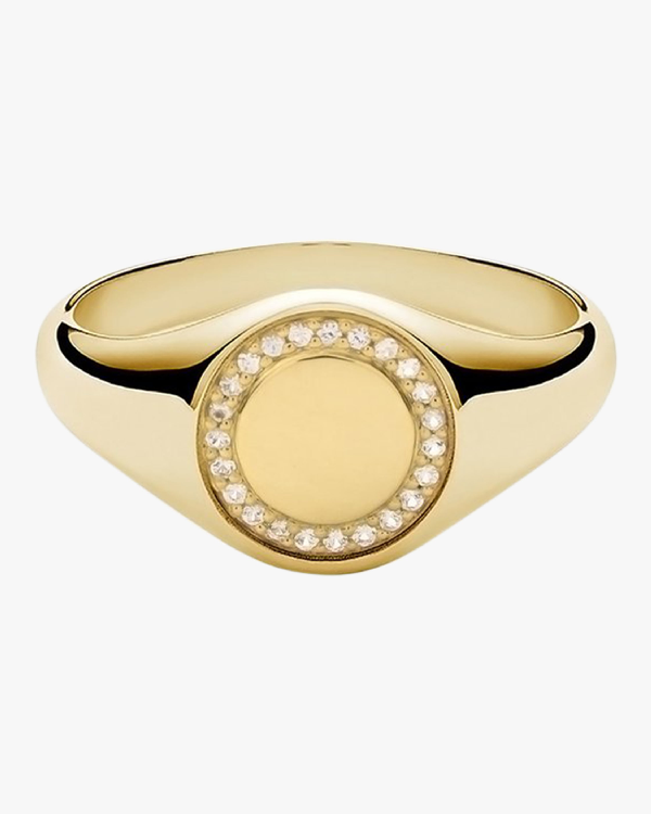 Miansai Halo Signet Ring In Gold