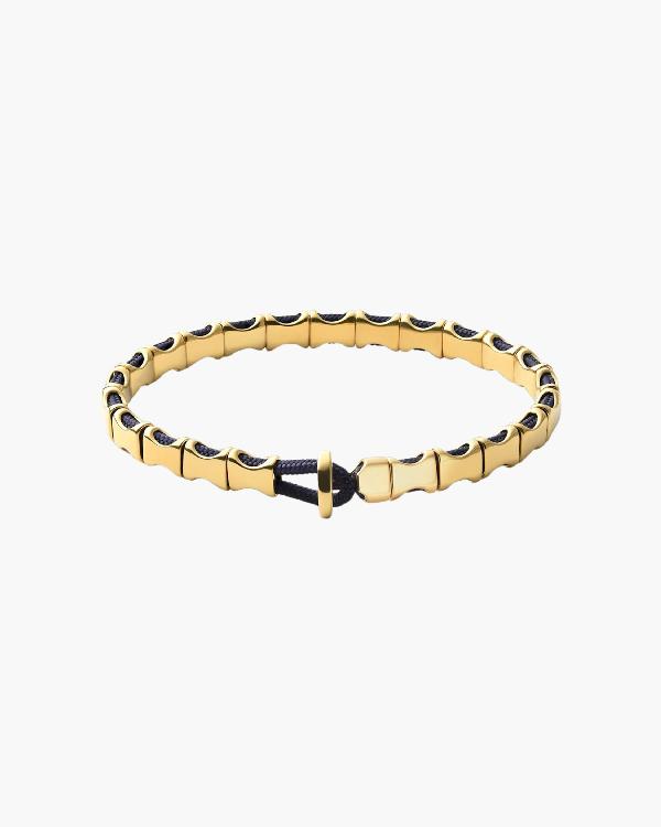 Miansai Orson Bracelet In Polished Gold/navy