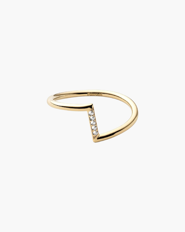 Miansai Arch Ring In Polished Gold/pave