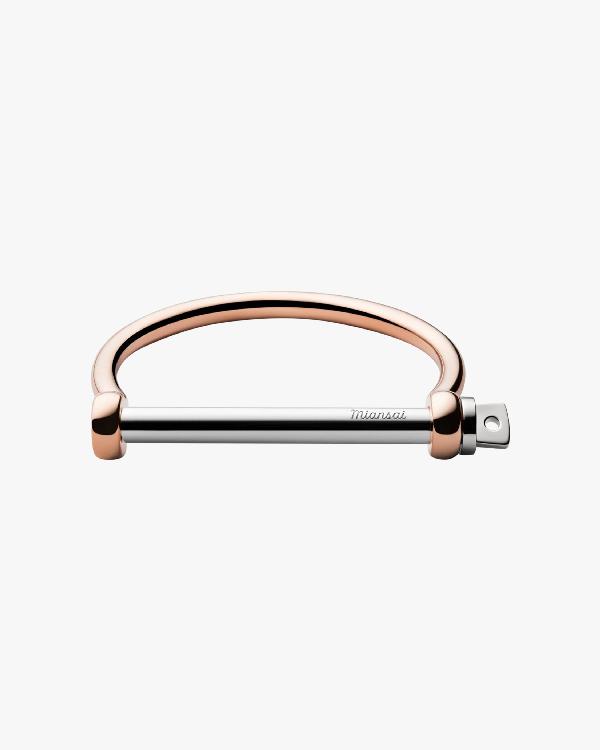 Miansai Screw Cuff Bracelet In Polished Rose/silver