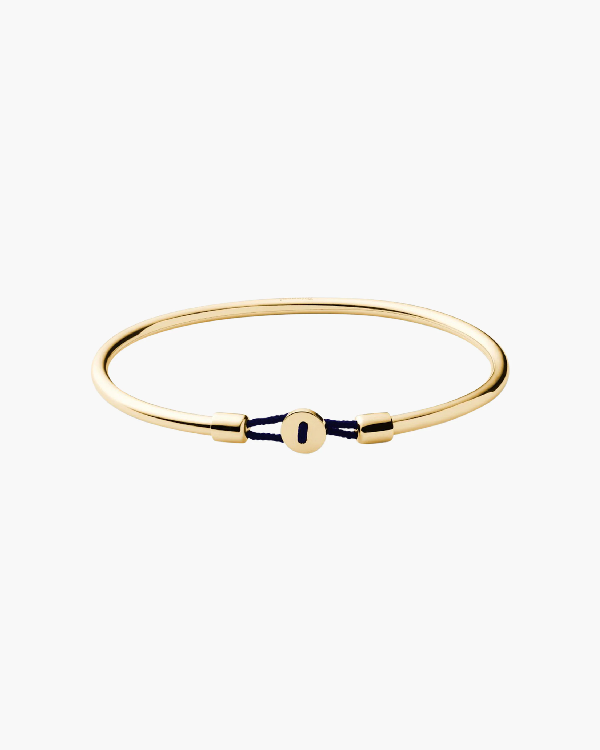 Miansai Nexus Cuff Bracelet In Polished Gold/navy