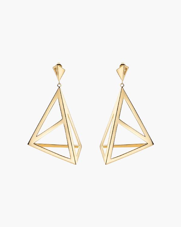 Miansai Apex Drop Earrings In Polished Gold