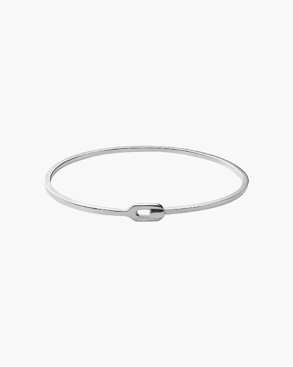 Miansai Ace Cuff Bracelet In Polished Silver