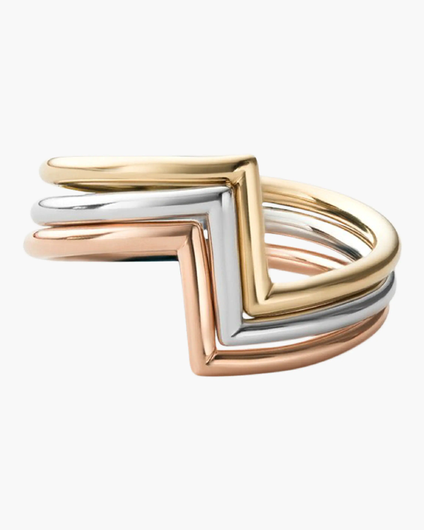 Miansai Arch Ring Set In Gold