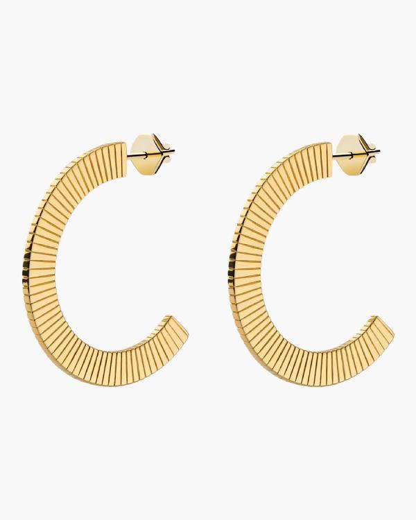 Miansai Celeste Hoops In Gold