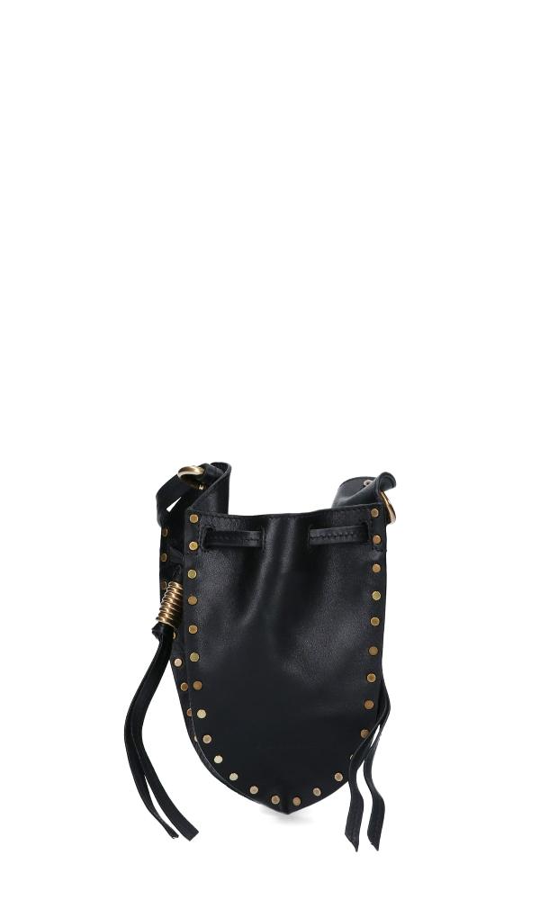 Isabel Marant Studs Details Mini Shoulder Bag - Mancano Misure In Black