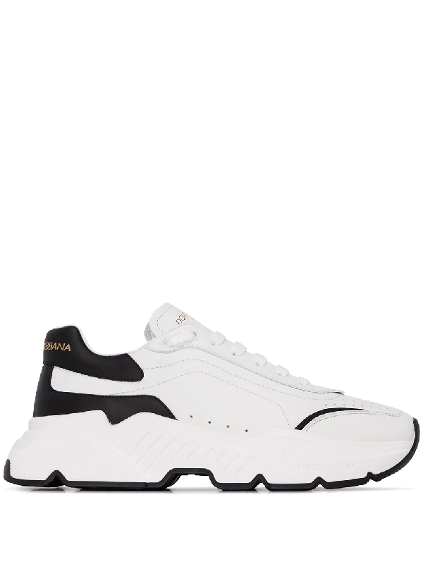 Dolce & Gabbana Low-top Sneakers Daymaster Calfskin Logo White-combo
