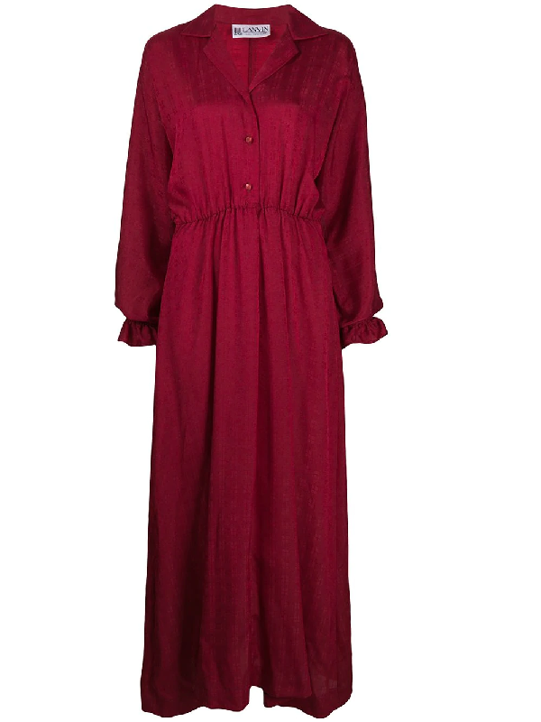 Lanvin 1970s Maxi Dress In Red