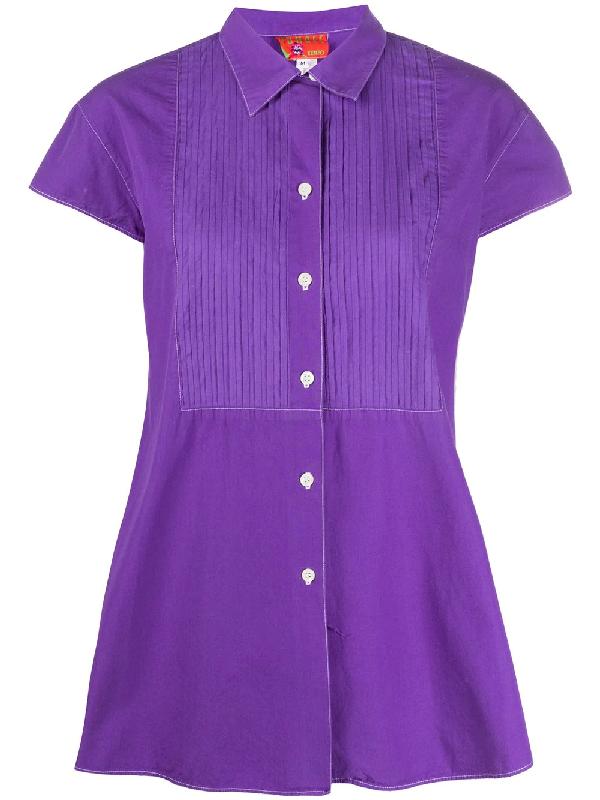 Kenzo 1990s A-line Blouse In Purple