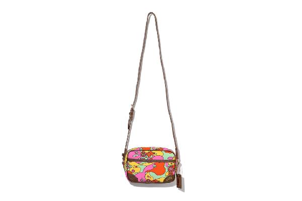 Bape Abc Camo Flower Shoulder Bag Multi